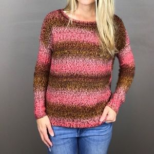 American Eagle Outfitters pink and brown sweater